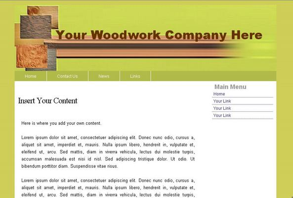 Product picture Woodwork Web Template 1