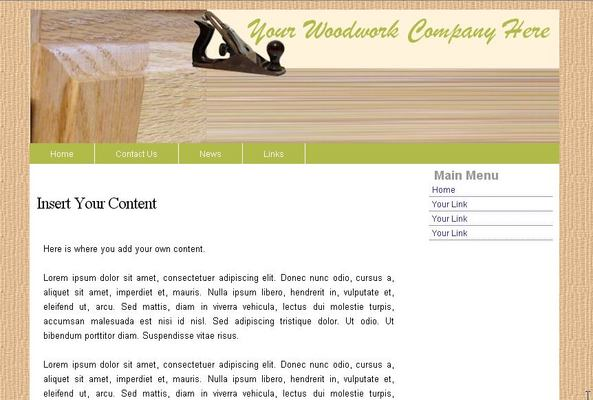 Product picture Woodwork Web Template 2