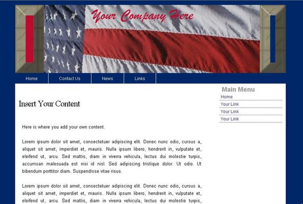 Product picture Web Template Patriotic USA